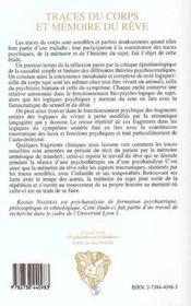 Traces Du Corps Et Memoire Du Reve ; Au-Dela Du Psychosomatique - 4ème de couverture - Format classique