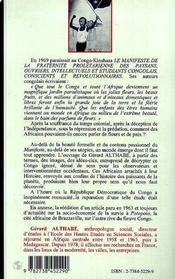 Les Fleurs Du Congo ; Une Utopie Du Lumumbisme - 4ème de couverture - Format classique