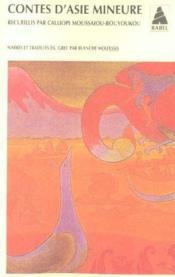 Contes d'asie mineure - Couverture - Format classique