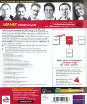 Wrox Asp.Net Professionnel - 4ème de couverture - Format classique