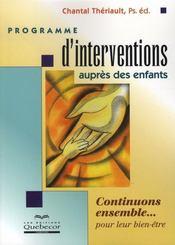 Programme d'interventions auprès des enfants - Intérieur - Format classique