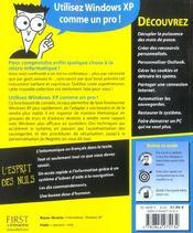 Windows Xp ; Trucs Et Astuces Pour Les Nuls - 4ème de couverture - Format classique