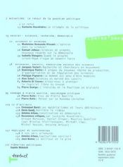 Revue contre-temps t.14 ; sciences, recherche, démocratie ; le retour de la question politique ; hommage à Pierre Naville - 4ème de couverture - Format classique