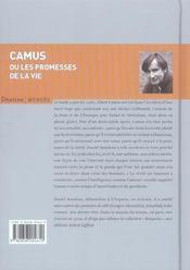 Camus ou les promesses de la vie - 4ème de couverture - Format classique