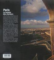 Paris, la balade des clochers - 4ème de couverture - Format classique