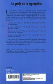 Le Guide De La Copropriete - 4ème de couverture - Format classique