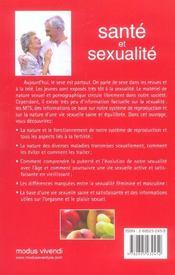 Sante et sexualite - 4ème de couverture - Format classique