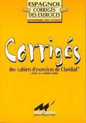 Claridad exercices corriges - Intérieur - Format classique