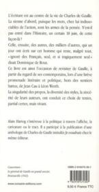 Le premier des Mohicans ; De Gaulle autrement - 4ème de couverture - Format classique