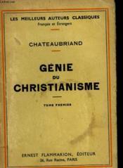 Genie Du Christianisme. Tome 1. - Couverture - Format classique