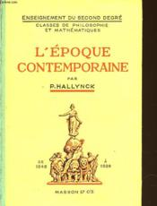 L'Epoque Contemporaine 1848-1939 - Couverture - Format classique