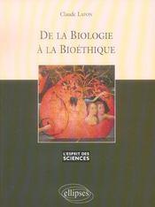 De La Biologie A La Bioethique No40 - Intérieur - Format classique