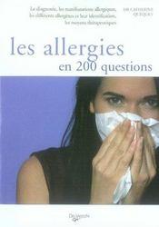 Les allergies en 200 questions - Intérieur - Format classique