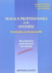 Travaux prof & synth ter bac pro sec - Intérieur - Format classique