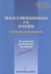 Travaux prof & synth ter bac pro sec - Couverture - Format classique
