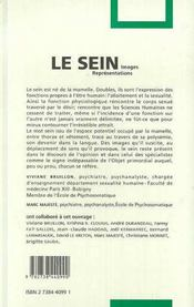 Le Sein - 4ème de couverture - Format classique