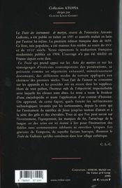 Traite Des Instruments De Martyre Et Des Divers Modes De Supplice Employes Par Les Paiens Contre Les Chretiens - 4ème de couverture - Format classique