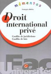 Memento Droit International Prive - Intérieur - Format classique