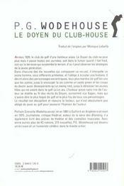 Le Doyen Du Club-House - 4ème de couverture - Format classique