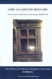 Lire Les <I>Odes</I> De Ronsard - Intérieur - Format classique