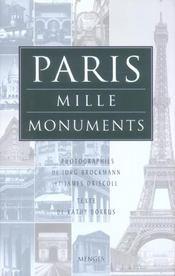 Paris mille monuments - Intérieur - Format classique
