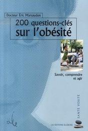 200 questions-clés sur l'obésité - Intérieur - Format classique
