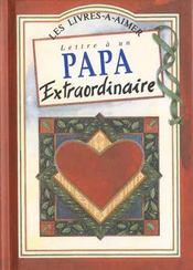 Lettre Papa Extraordinaire - Intérieur - Format classique
