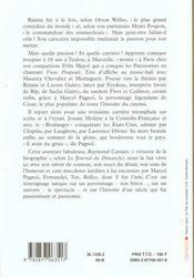 L'impossible monsieur raimu - 4ème de couverture - Format classique