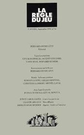 Revue La Regle Du Jeu T.14 - Couverture - Format classique