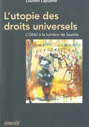 Utopie Des Droits Universels. - Intérieur - Format classique