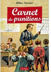 Carnet de punitions  - Albine Novarino