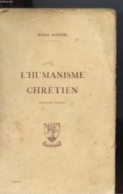 L'Humanisme Chretien - Couverture - Format classique