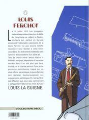 Louis Ferchot t.2 ; le fusil - 4ème de couverture - Format classique