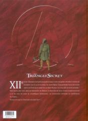 Le triangle secret - I.N.R.I. t.3 ; le tombeau d'orient - 4ème de couverture - Format classique