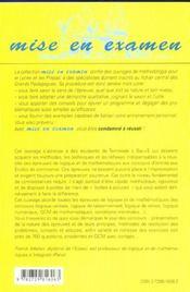 Les Epreuves De Logique Et De Mathematiques Aux Concours Des Ecoles De Commerce 2e Edition - 4ème de couverture - Format classique