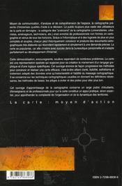 La Carte Moyen D'Action Guide Pratique Pour La Conception Et La Realisation De Cartes - 4ème de couverture - Format classique
