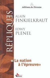 Repliques ; la nation a l'epreuve - Intérieur - Format classique