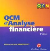 Qcm d'analyse financiere - Couverture - Format classique
