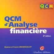 Qcm d'analyse financiere - Intérieur - Format classique