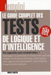 Guide Complet Tests Logique - Intérieur - Format classique