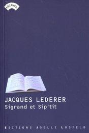 Sigrand et sip'tit - Intérieur - Format classique