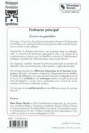 Professeur Principal - 4ème de couverture - Format classique
