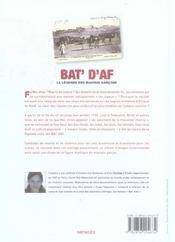 Bat D Af Legende Mauv Garcons - 4ème de couverture - Format classique