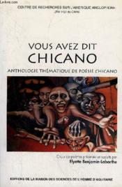 Vous avez dit chicano - Couverture - Format classique