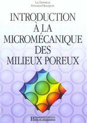 Introduction a la micromecanique des milieux poreux - Intérieur - Format classique
