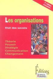 Les organisations ; état des savoirs - Intérieur - Format classique