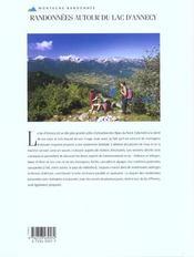 Randonnées autour du lac d'Annecy - 4ème de couverture - Format classique