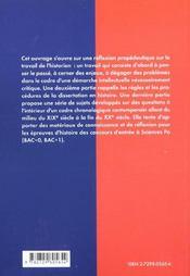 Les Epreuves D'Histoire A L'Entree De Sciences Po Methodologie Sujets Corriges Commentes - 4ème de couverture - Format classique