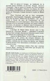 Butor Et L'Amerique - 4ème de couverture - Format classique