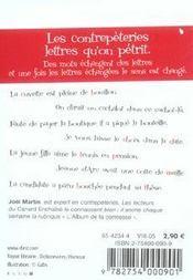 Le Petit Livre De - Contrepeteries - 4ème de couverture - Format classique